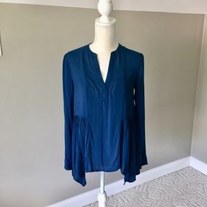 Anthropologie Maeve Tops - Anthropology Maeve Long Sleeve Henley Blouse 0